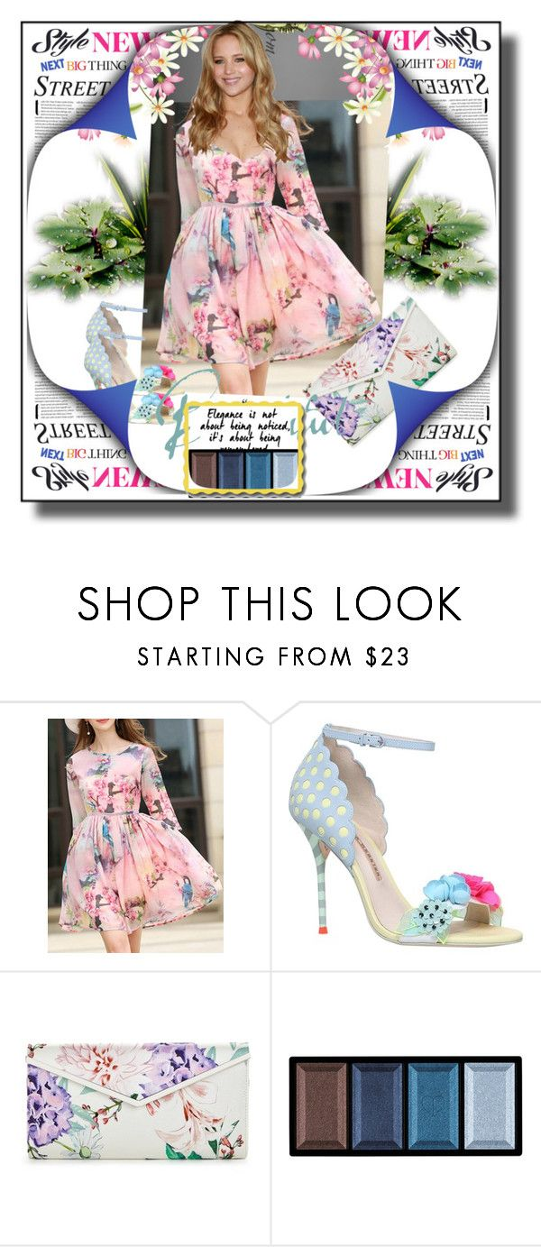 """""""set 96"""" by fahirade ❤ liked on Polyvore featuring Sophia Webster and Clé de Peau Beauté"""