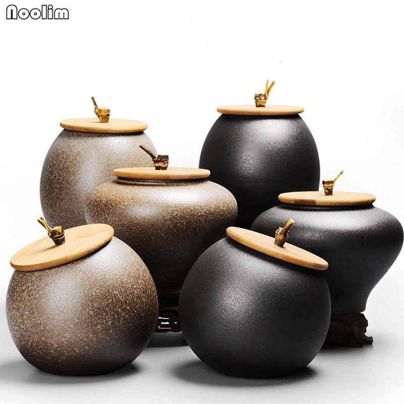 Ustensiles Pot De Rangement Cuisine Cartouche Noir Céramique