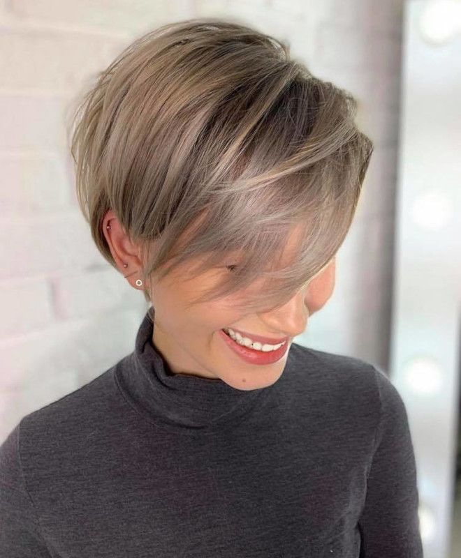 The Most Flattering Short Haircuts For Thin Hair t
