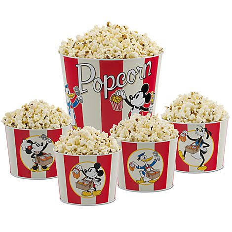df14fba58a2 Perfect for our Disney Movie Nights! Mickey Mouse and Friends Popcorn Bucket  Set -- 5-Pc.