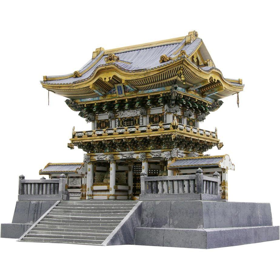 日本 日光東照宮(陽明門),建物,ペーパークラフト,アジア