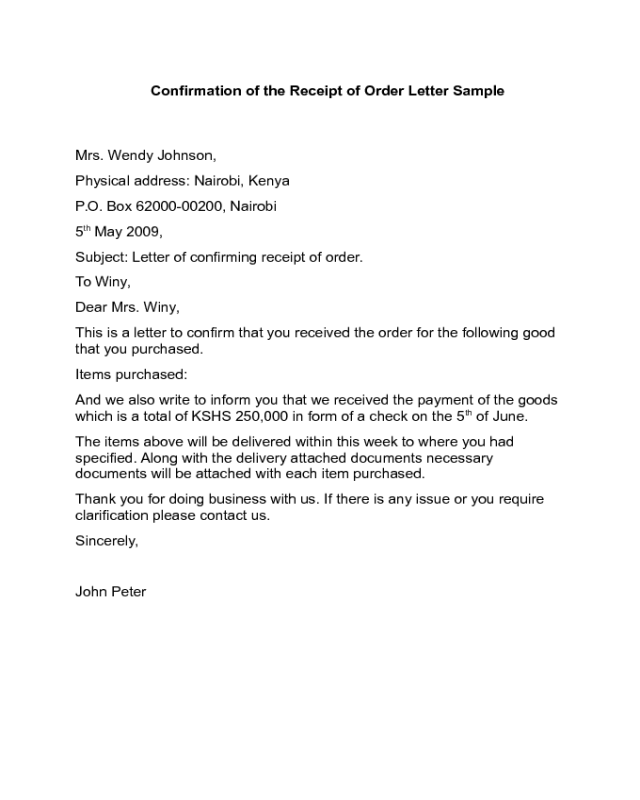 Confirmation Letter Of Cargo Receipt Sample Yahoo Image Search Results