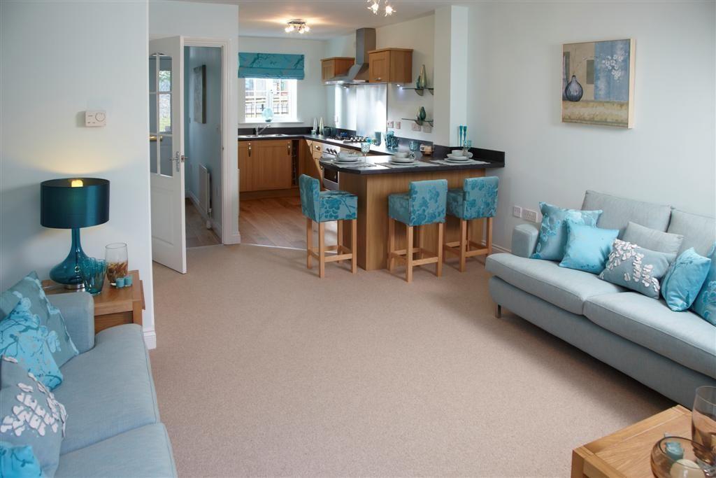 News Yuill Homes Blue Living Room Open Plan Kitchen Living Room Home #tiffany #blue #living #room