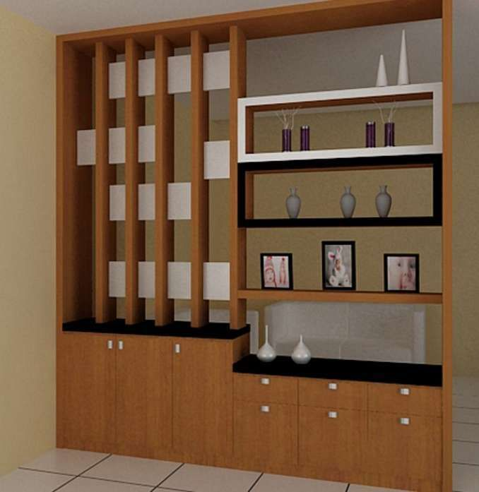 Kayu Pemisah Ruang Tamu | Desainrumahid.com