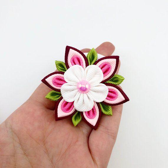 Fashion Jewelry Naranja Flor Flores Plumas Broche Cabello Clip Haarclip Fascinator De La Jewelry & Watches