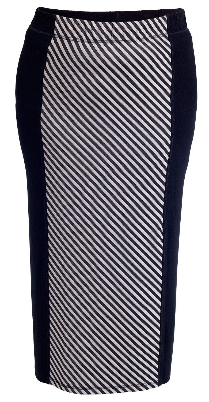 De fedeste Nederdel sort med mønster NŠis Modetøj til Damer i lækker kvalitet