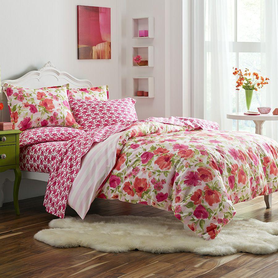 Poppy & Fritz Buffy Comforter & Duvet Set. #BeddingStyle #floral #bedroom @poppyandfritz