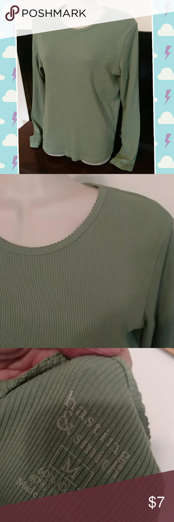 Hastings and smith top sz med Green waffle top w stretch. Sz med Hastings and smith Tops