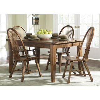 Treasures Rustic Oak 36X60 Dinette Tableliberty  Shops Simple Dining Room Furniture Outlet Stores Design Decoration
