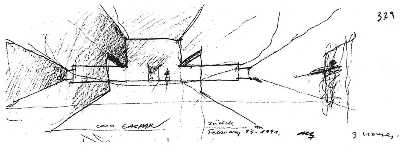 Sketch spanish house
