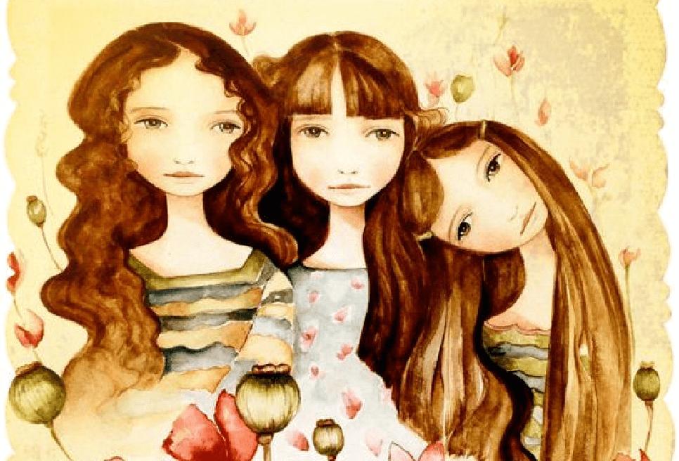 Поздравление, картинки 3 сестры прикольные