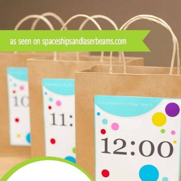 New Year's Eve Countdown Bag Ideas + Free Printables (With ...