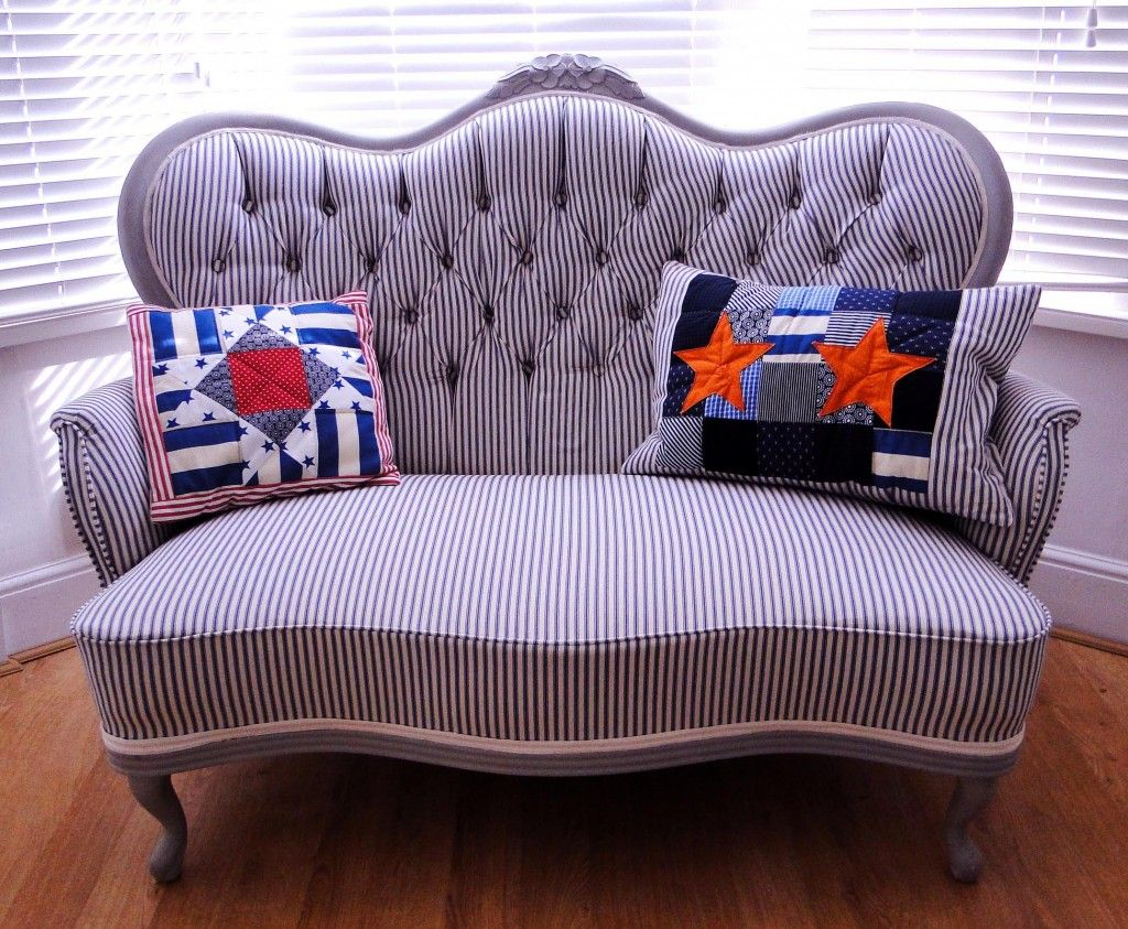 How to restore and reupholster a button back sofa. | For the Home ...