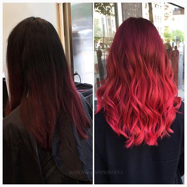 röda nyanser hårfärg