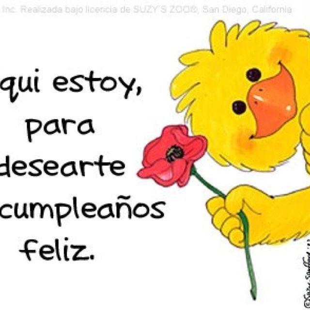 Happy Birthday En Espanol:)