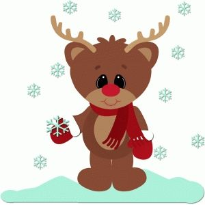 Silhouette Design Store: catching snow rudy the reindeer