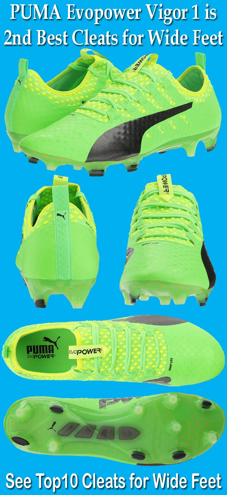 401888675 PUMA Men s Evopower Vigor 1 FG Soccer Shoe is one of the best cleats for  wide feet players. Watch This reviews of best cleats for wide feet.