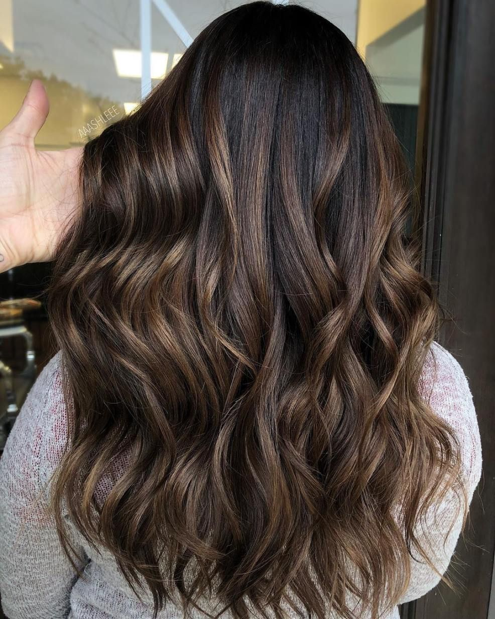 60 Hairstyles Featuring Dark Brown Hair With Highlights Hair Highlights Curly Hair Styles Naturally Curly Hair Styles