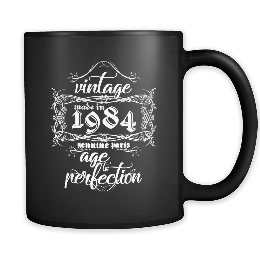 Vintage Coffee Mugs Vintage, Made in 1984, Genuine Parts
