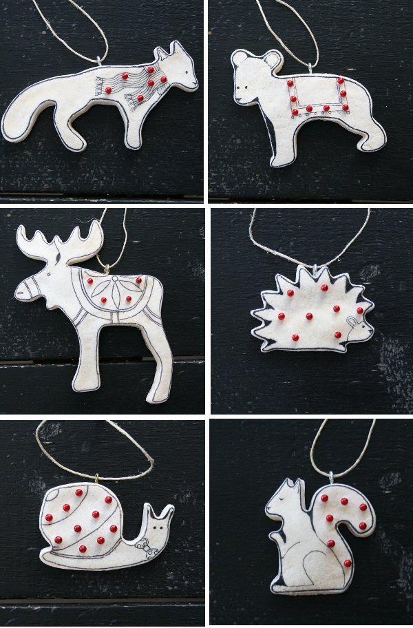Canadian Salt Dough ornaments Christmas ornaments