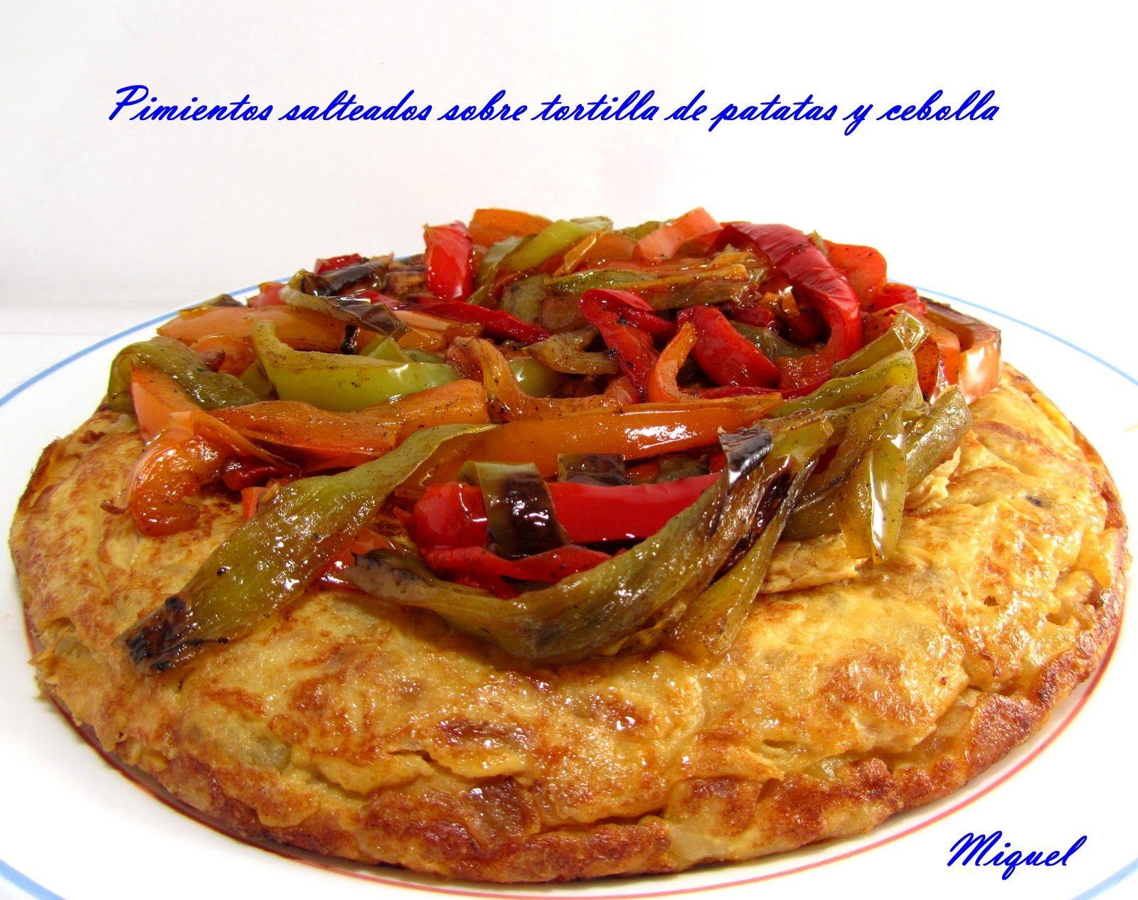Les receptes del Miquel: Tortilla de cebolla y patatas hervidas y otras formas de acompañamiento sobre la tortilla