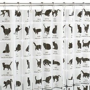 Superbe Cat Shower Curtain