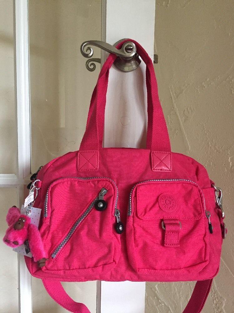 20ec627024 Kipling Defea Handbag Vibrant Pink Convertible Crossbody #Kipling #Satchel Kipling  Defea, Kipling Handbags