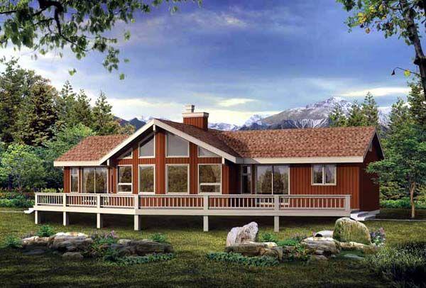 Cabin contemporary house plan 55000 contemporary house for Ehouseplans com