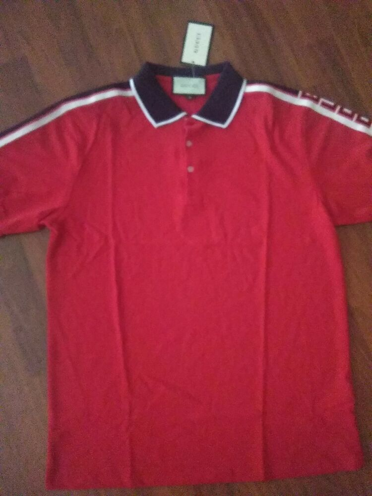 46d9a12b4f3 Red Gucci Polo  fashion  clothing  shoes  accessories  mensclothing  shirts  (ebay link)