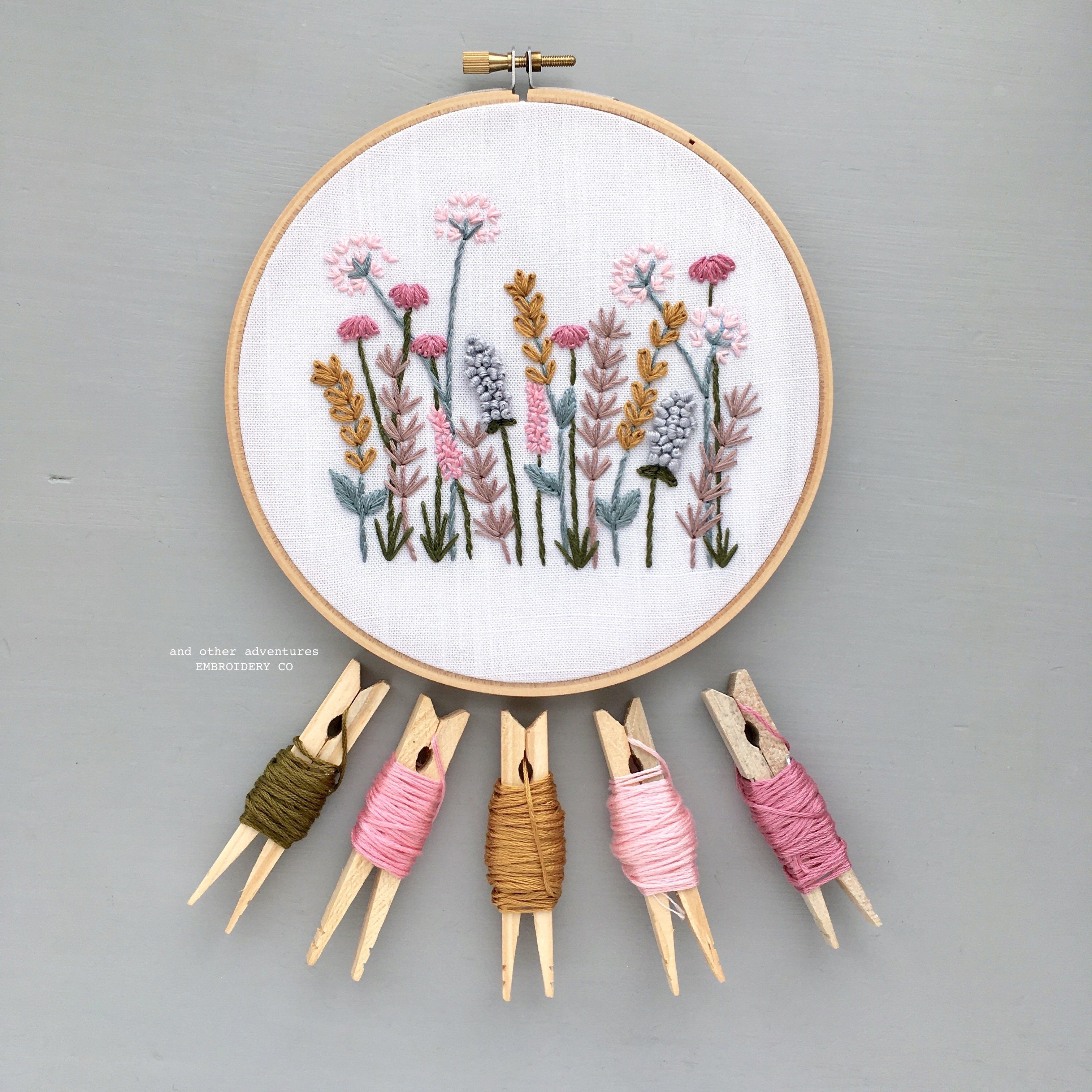 Hand Embroidery Kit - Spring Meadow #embroiderypatternsbeginner