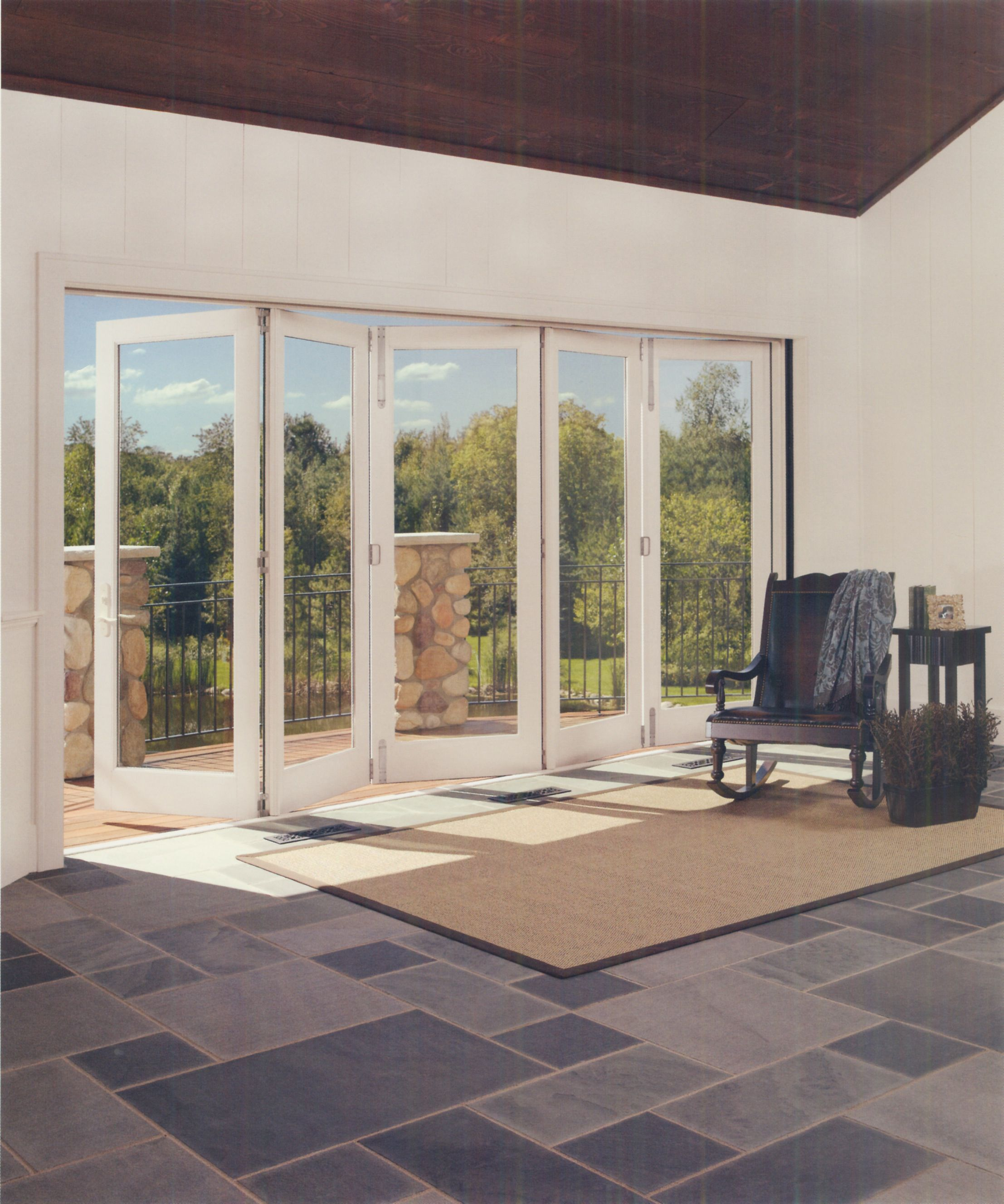 Bi Fold Doors By Marvin Bring In The Fresh Air The Dramatic Views And The Luxuries Of Indoor Outdoor L Patio Door Installation Bifold Doors Accordion Doors
