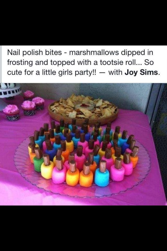 cute nail polish marshmallows