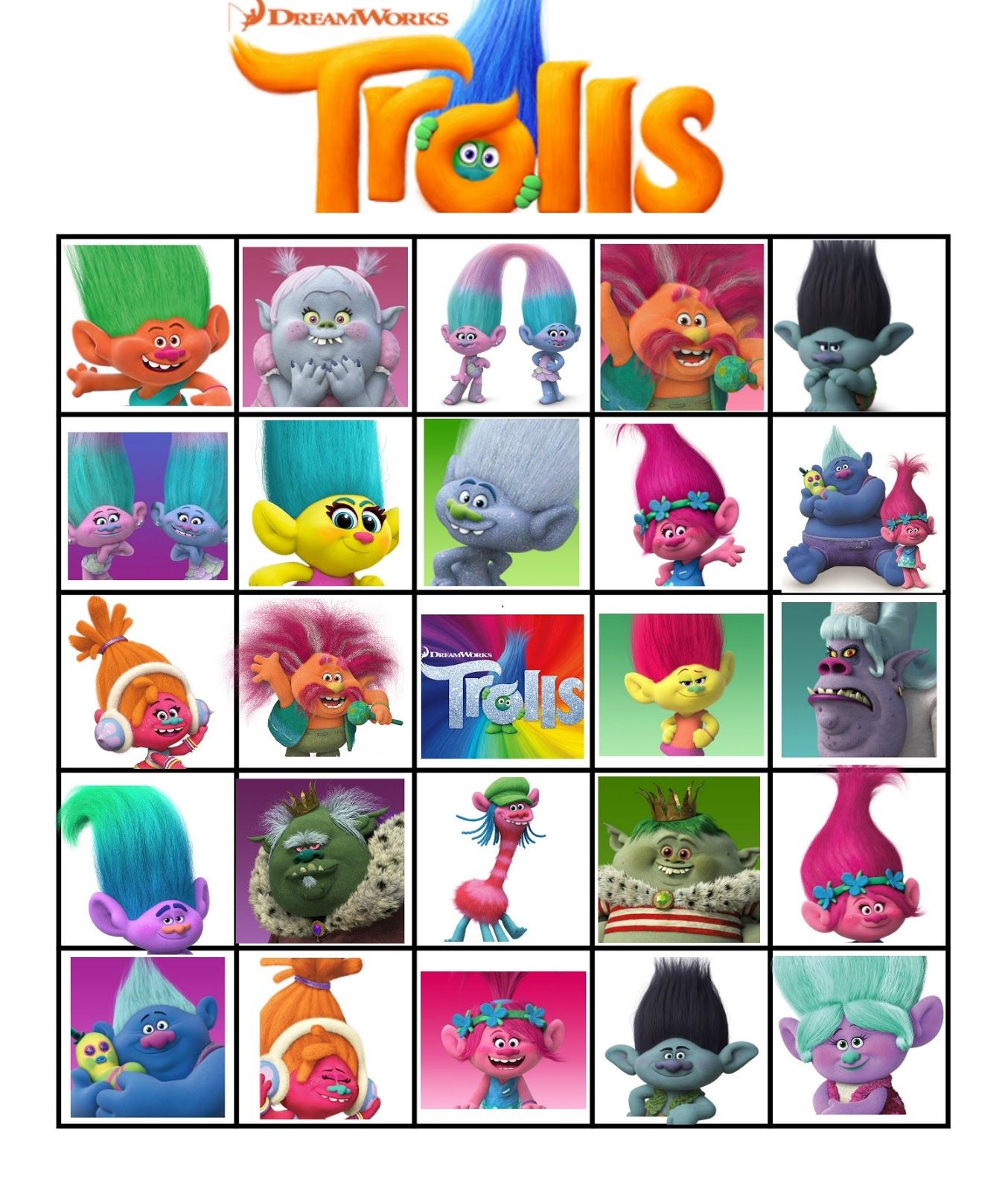 Shocking image regarding printable trolls