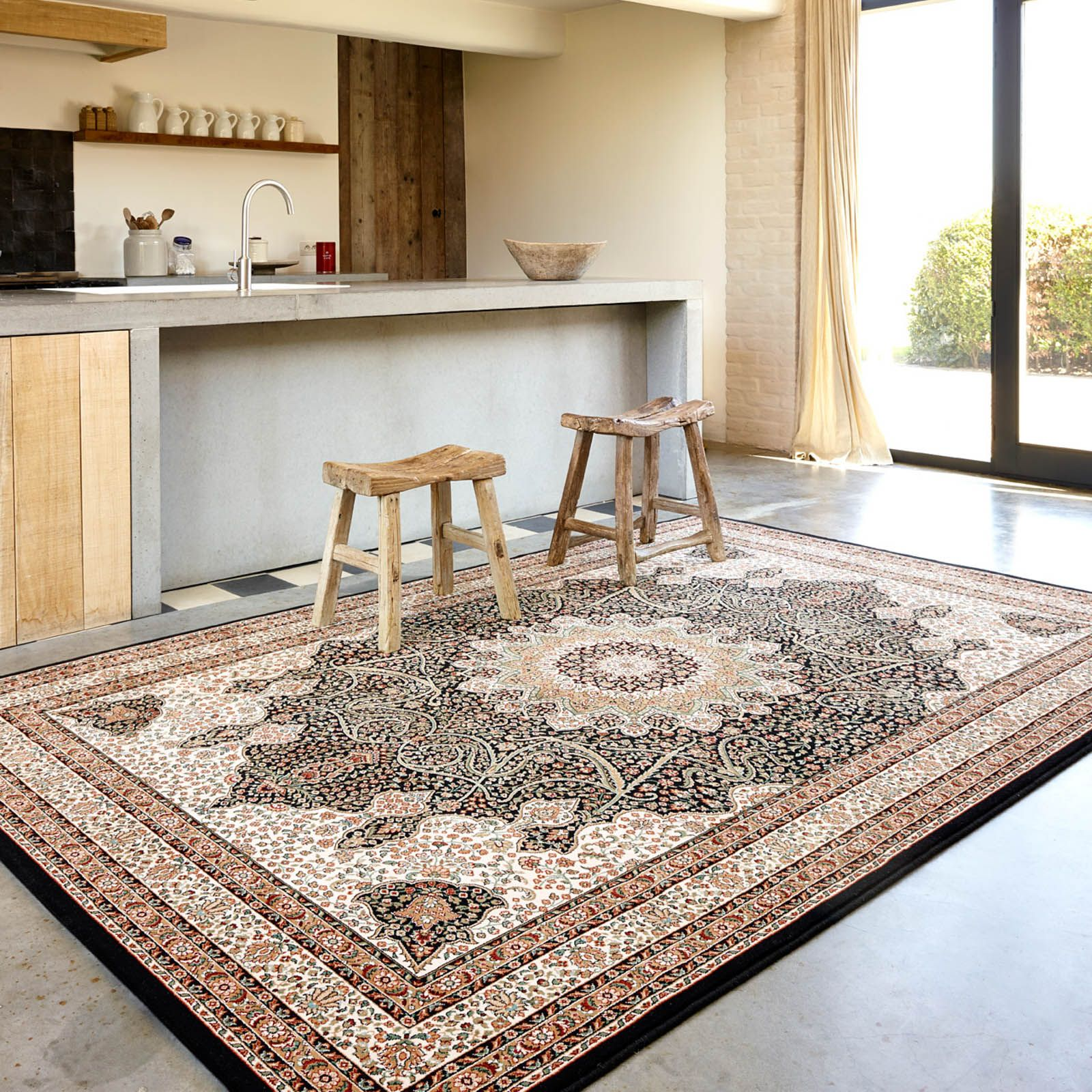 Nain Rugs 1285 678 In Navy By Lano Free Uk Delivery Rugs Traditional Rugs Nain Rugs