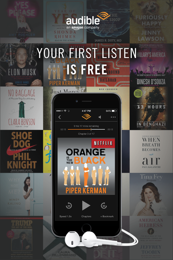 Experience Books In A Whole New Way Try Audible With A Free Audiobook Of Your Audio Books Books Audiobooks