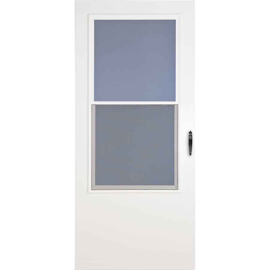 Larson White Mid View Storm Door Common 34 In X 81 In Actual