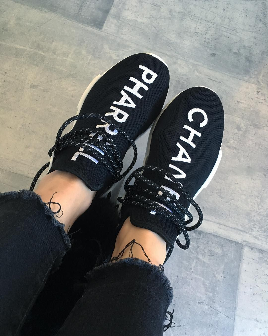 3b0da291a Chanel x Pharrell x adidas NMD Human Race Trail