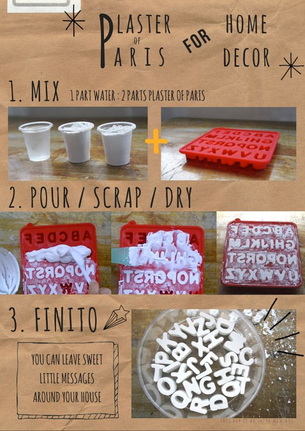 Diy plaster of paris letters for home decor and wall arts for Diy creative crafts