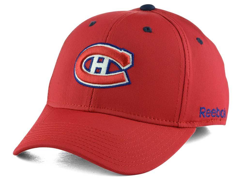 Montreal Canadiens Reebok NHL JC Core Basic Flex Fit Hat  04288e02ab0f