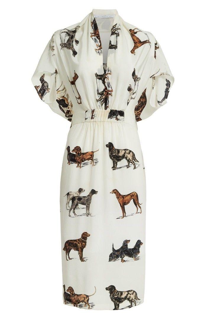 2d8420b948da Main Image - Stella McCartney Dog Print Silk Dress | GEAR | Dresses ...