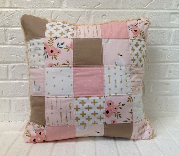 Little Girls Pillow Cover Large Floor Pillow Cover Pink and