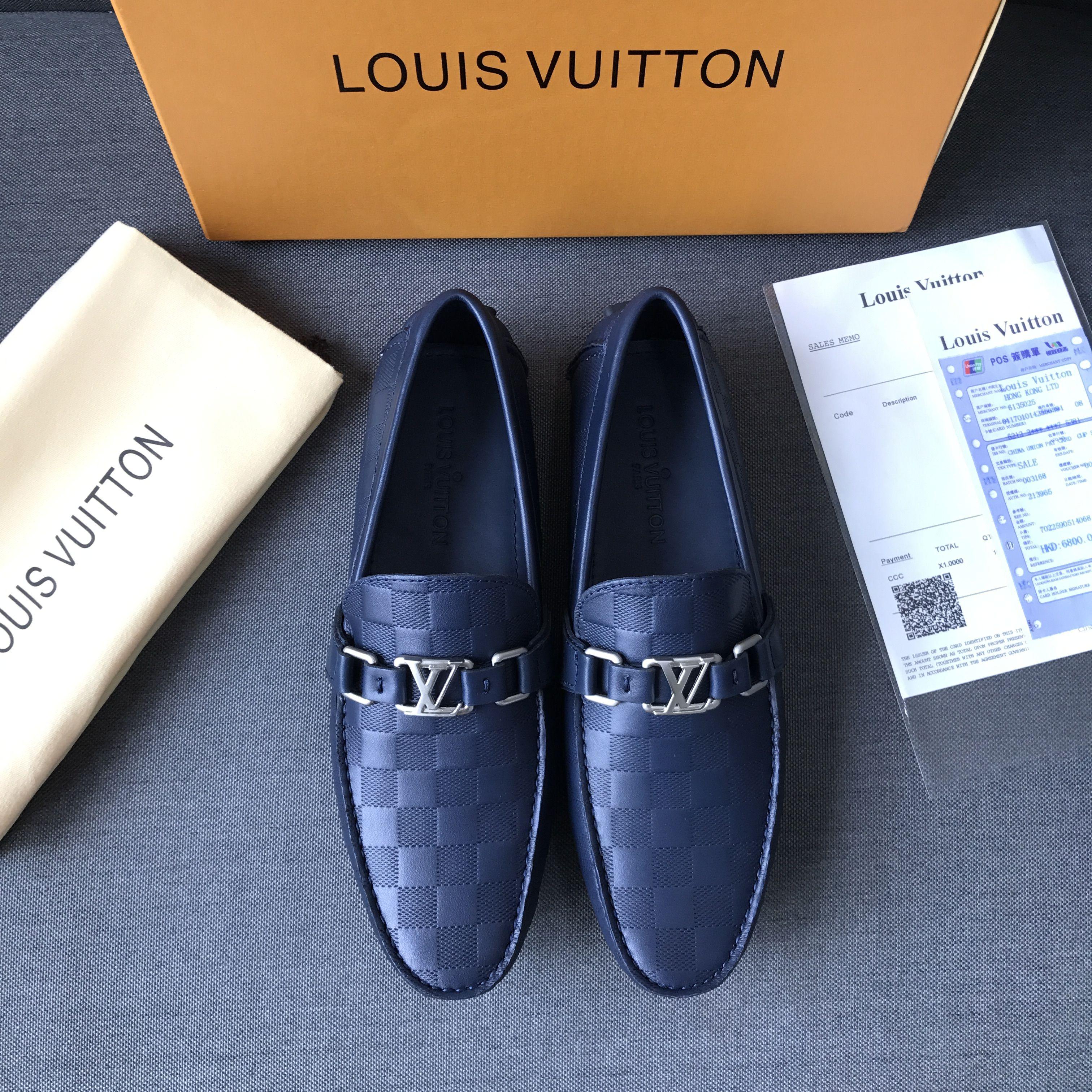 Louis Vuitton lv man shoes blue leather