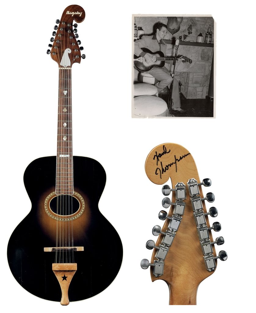 HANK THOMPSON - GIBSON MANDOLIN-GUITAR COMPANY AND PAUL A BIGSBY, A COMPOSITE 12-STRING GUITAR, L-4, KALAMAZOO, MI., CIRCA 1918, WITH A LATER NECK BY PAUL A. BIGSBY