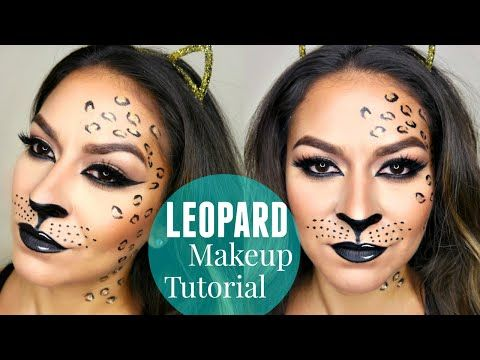 sexy leopard cheetah halloween makeup tutorial youtube. Black Bedroom Furniture Sets. Home Design Ideas