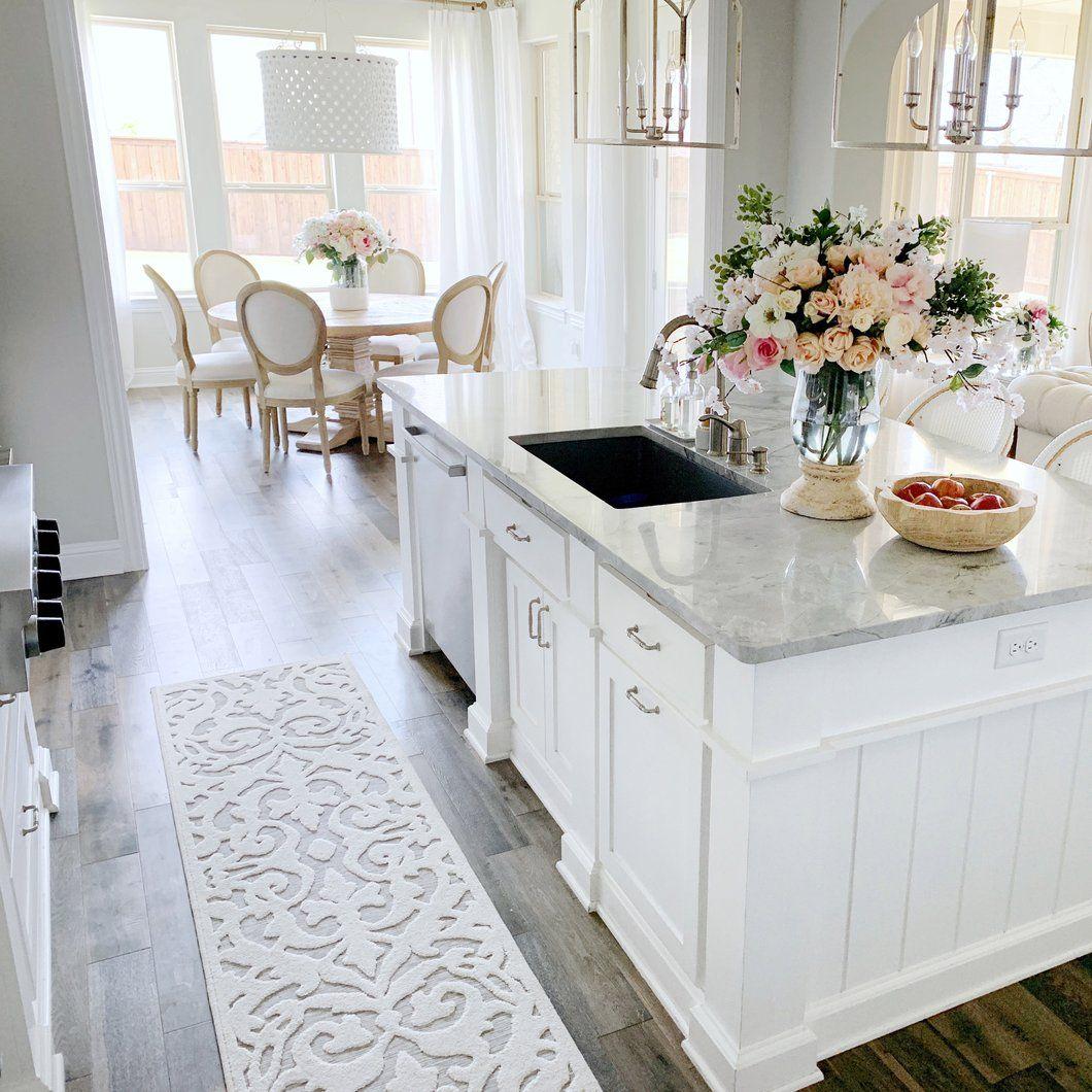 My Texas House By Orian Indoor Outdoor Lady Bird Natural Area Rug White Kitchen Design Kitchen Decor Trends Kitchen Design