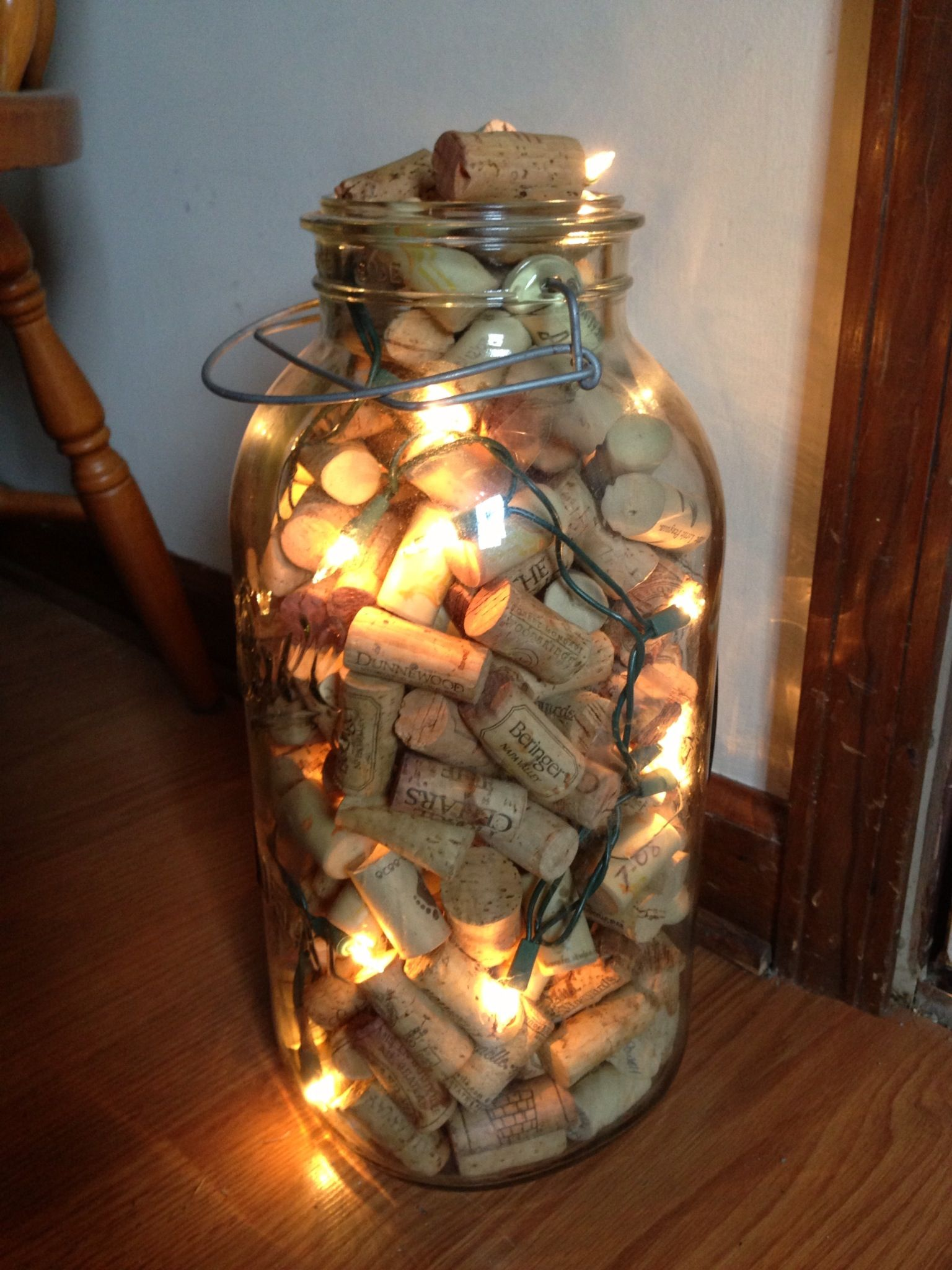 Holiday christmas decor wine cork vase my crafts for Decorating with wine corks
