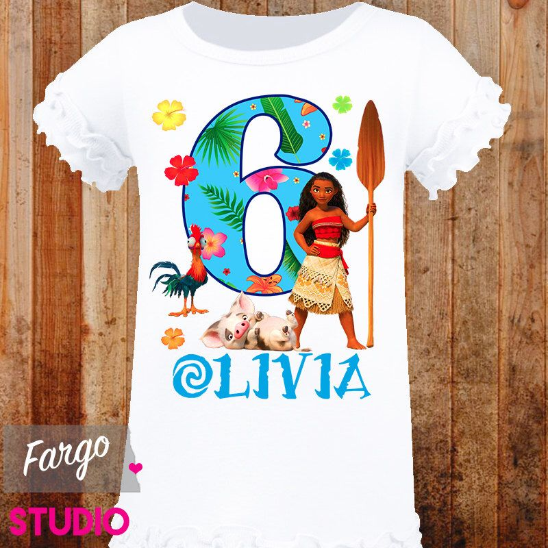 Girls personalized birthday shirt moana birthday t