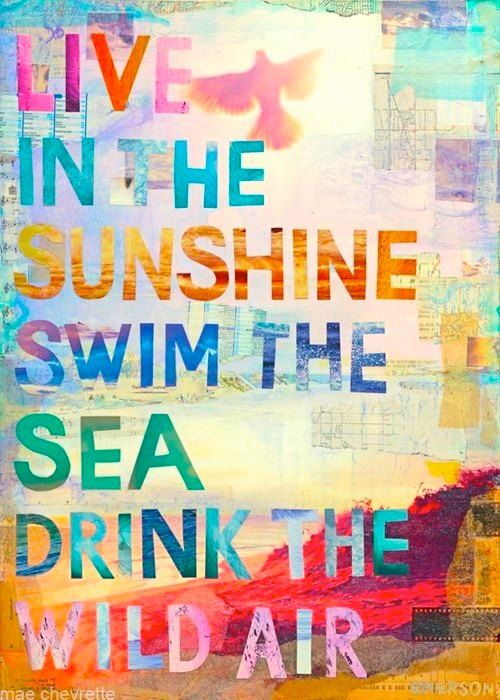 Charmant Live In The Sunshine Swim The Sea Drink The Wild Air ~ Best Quotes U0026  Sayings. Quote By Ralph Waldo Emerson