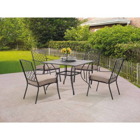 Mainstays Grayson Court 5Piece Patio Set Tan Patio Finds