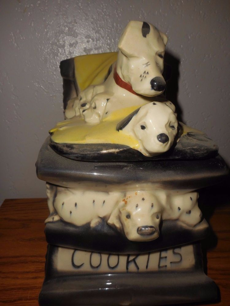 Details About Vintage Mccoy 101 Dalmatians Rocking Chair Cookie Jar